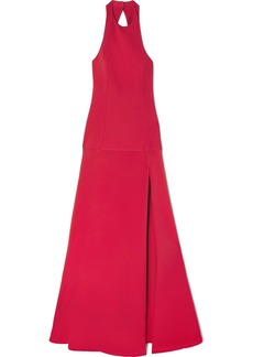 Cushnie Open-back Crepe Gown