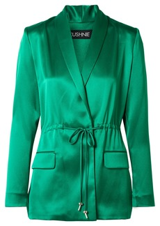 Cushnie Open-back Silk-satin Blazer