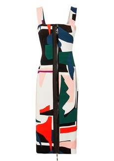 Cushnie Et Ochs Orlena Abstract Print Dress