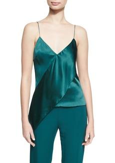 5ae2d97bbcf Cushnie Et Ochs Paulina Silk Satin Drape-Front Camisole Top