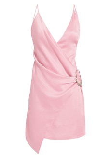Cushnie Et Ochs Wrap-Effect Pink Mini Dress