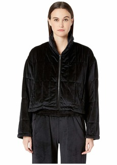 Cushnie Quilted Zip-Up Jacket with Cinched Back Detail