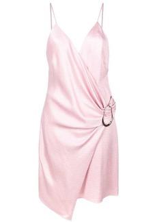 Cushnie Et Ochs ring detail draped mini dress