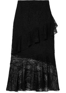 Cushnie Et Ochs Ruffled Lace Midi Skirt