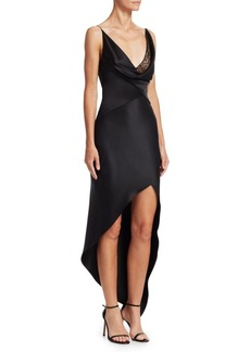 Cushnie Et Ochs Silk & Lace Wrap Dress