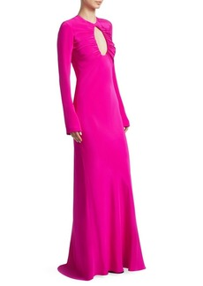 Cushnie Et Ochs Silk Cut-Out Column Gown