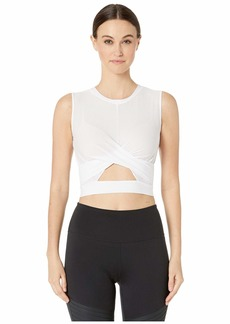 Cushnie Sleeveless Crop Top with Crisscross Detail at Front