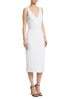 Cushnie Et Ochs Sleeveless Deep V-Neck Pencil Dress