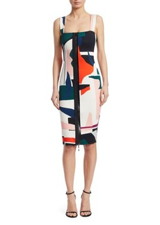 Cushnie Et Ochs Sleeveless Print Pencil Dress