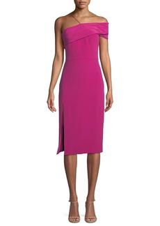 Cushnie Et Ochs Twisted-Bustier Sleeveless Silk Crepe Sheath Dress