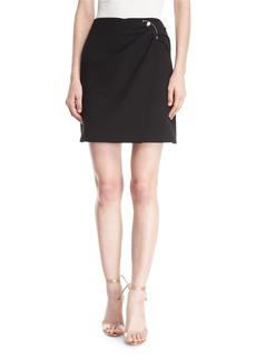 Cushnie Et Ochs Wrap-Front Mini Skirt