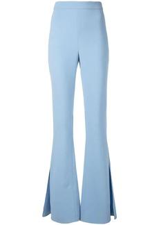 Cushnie flared slit trousers