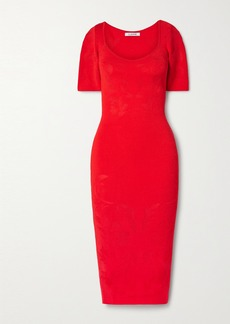 Cushnie Floral-jacquard Midi Dress