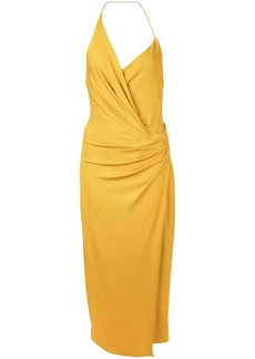 Cushnie halter neck wrap dress
