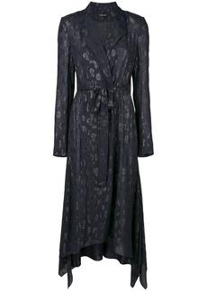 Cushnie leopard-jacquard trench coat