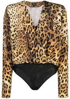 Cushnie leopard print body top