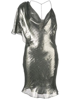 Cushnie metallic asymmetric dress