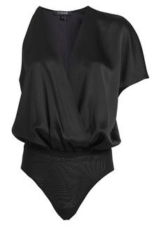 Cushnie One-Shoulder Draped Bodysuit