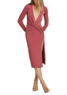 Cushnie Plunging Neckline Long Sleeves Dress