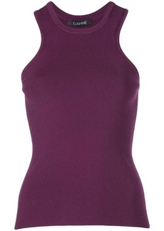 Cushnie racerback ribbed top