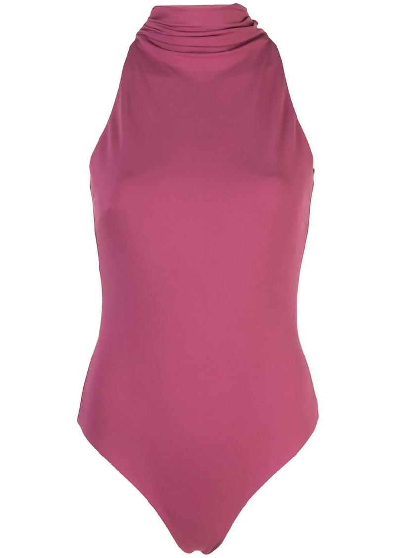 Cushnie roll-neck open-back bodysuit