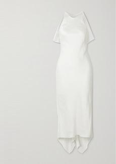Cushnie Satin-jacquard Midi Dress