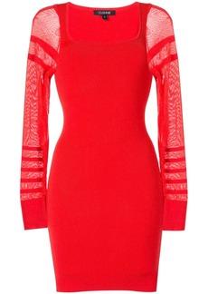 Cushnie sheer-sleeve mini dress
