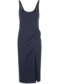 Cushnie side slit ruched dress