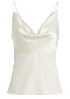 Cushnie Silk Combo Cowl Camisole