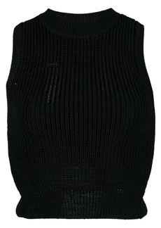Cushnie sleeveless cropped top