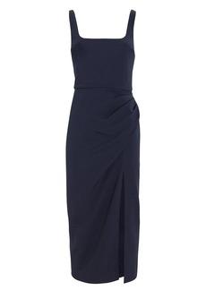 Cushnie Square Neck Stretch Crepe Dress