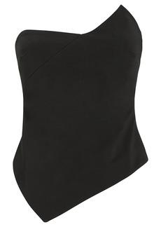 Cushnie Strapless Asymmetrical Corset Top