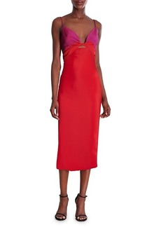 Cushnie Twisted Midi Dress