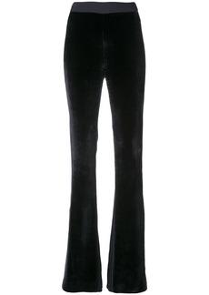 Cushnie velvet panel trousers