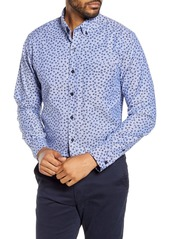 Cutter & Buck Anchor Classic Fit Tossed Print Button-Down Shirt