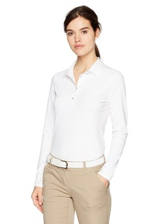 Cutter & Buck Annika by Women's Moisture Wicking 50+ UPF Reflective Long Sleeve Zennith Polo