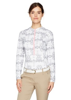 Cutter & Buck Annika by Women's Moisture Wicking Drytec 50+ UPF Hooded 3/4 Zip Pullover