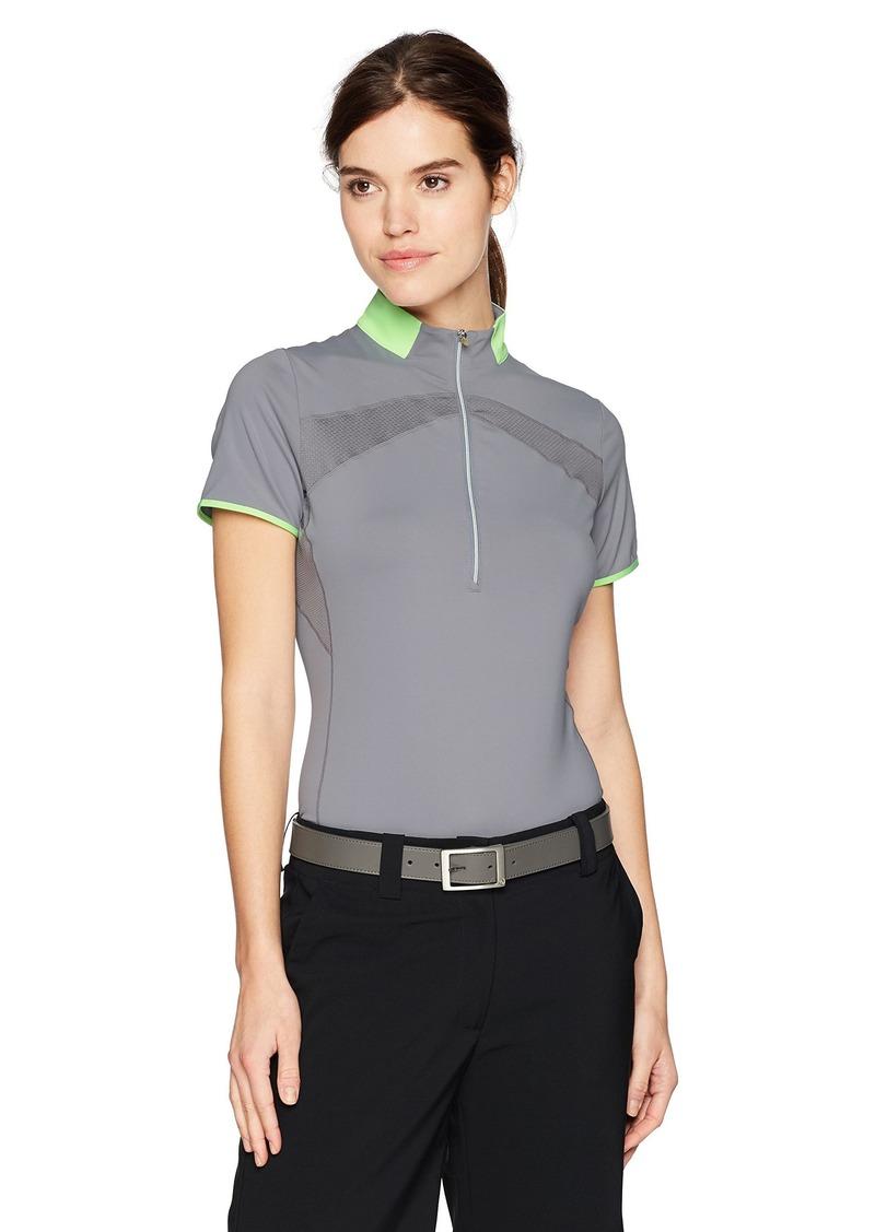 Cutter & Buck Annika by Women's Moisture Wicking Drytec 50+ UPF Mock Neck Half Zip Shirt