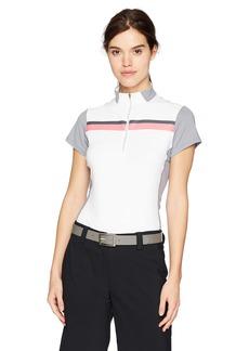 Cutter & Buck Annika Women's Moisture Wicking Drytec 50+ UPF Mock Neck Half Zip Shirt