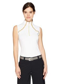 Cutter & Buck Annika by Women's Moisture Wicking Drytec 50+ UPF Sleeveless Mock Neck Shirt
