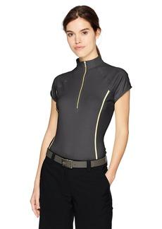 Cutter & Buck Annika by Women's Cap Sleeve Clutch Zip Polo