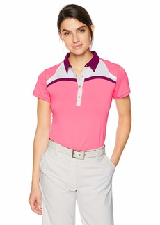 Cutter & Buck Annika Women's Drytec Moisture Wicking UPF 50+ Cap Sleeve Jersey Polo Shirt instinctive