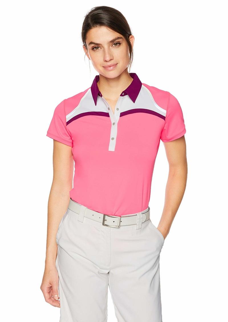 Cutter & Buck Annika Women's Drytec Moisture Wicking UPF 50+ Cap Sleeve Jersey Polo Shirt instinctive