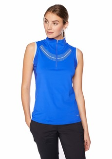 Cutter & Buck Annika Women's Drytec Moisture Wicking UPF 50+ Sleeveless Mock Neck Shirt