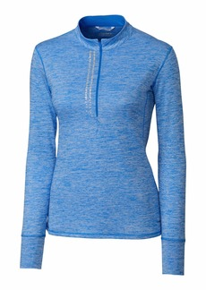 Cutter & Buck Annika Women's Frequency 1/2 Zip Long Sleeve Heathered Mock Neck Overknit  XXL