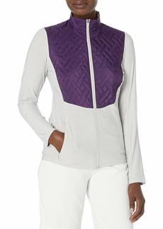 Cutter & Buck Annika Women's Lightweight Full Zip Propel Hybrid Quilded Color Block Jacket  L