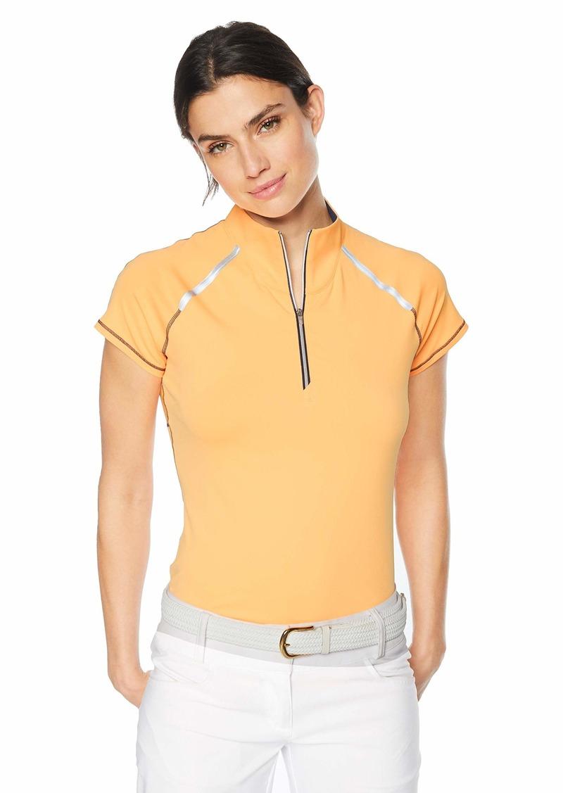 Cutter & Buck Annika Women's Moisture Wicking Drytec UPF 50+ Cap Sleeve Mock Neck Shirt  XSmall