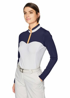 Cutter & Buck Annika Women's Moisture Wicking Drytec UPF 50+ Long Sleeve Mock Shirt