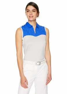 Cutter & Buck Annika Women's Moisture Wicking Drytec UPF 50+ Sleeveless Polo Shirt  XLarge