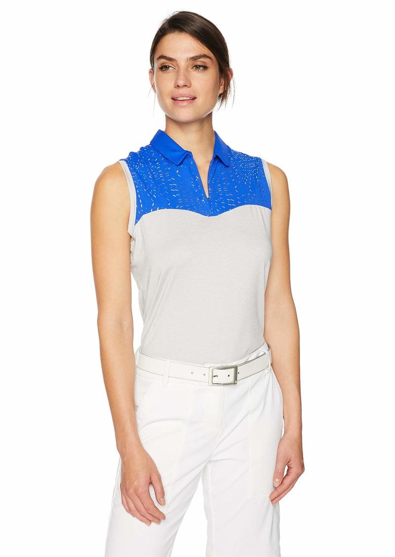 Cutter & Buck Annika Women's Moisture Wicking Drytec UPF 50+ Sleeveless Polo Shirt  XLarge